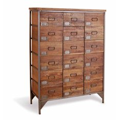 18 Drawer Industrial Apothecary Chest