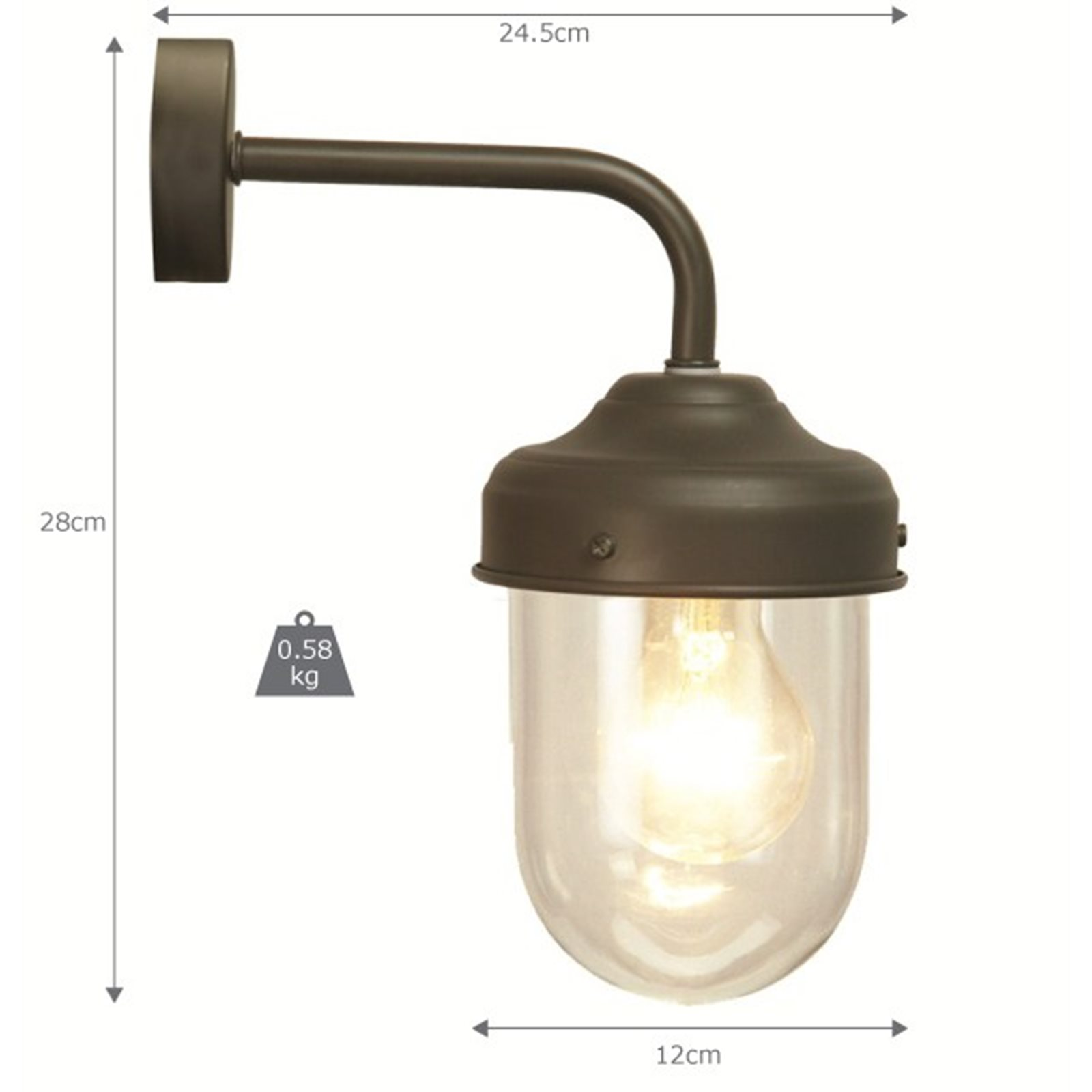 Barn Light Charcoal: Abinger Outdoor Barn Light Charcoal
