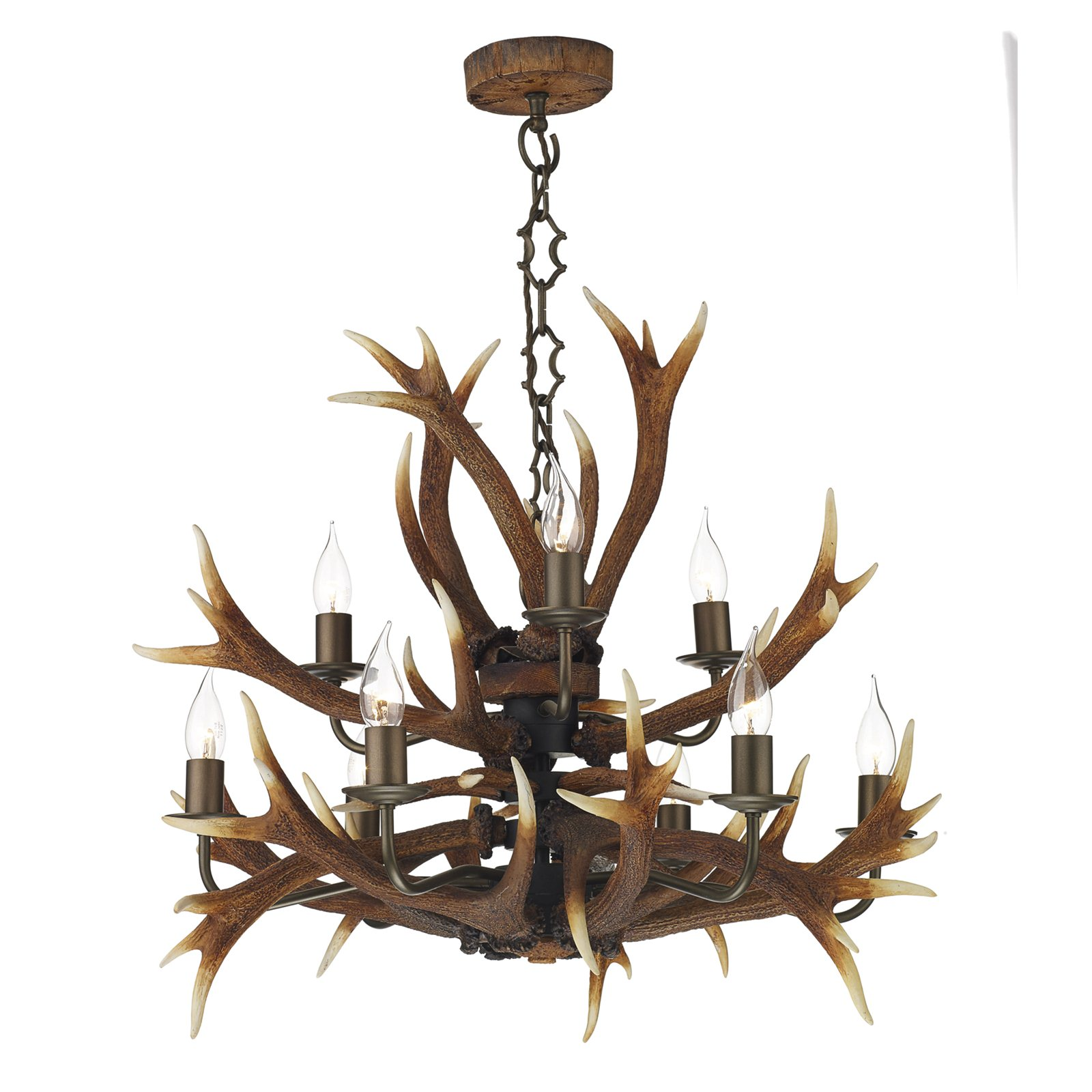 Hicks and hicks antler tiered pendant light 9 hicks hicks aloadofball Choice Image