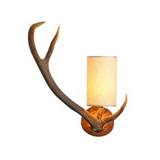 Antler wall light left handed