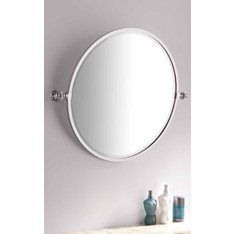 Bathroom Handmade Round Tilting Mirror