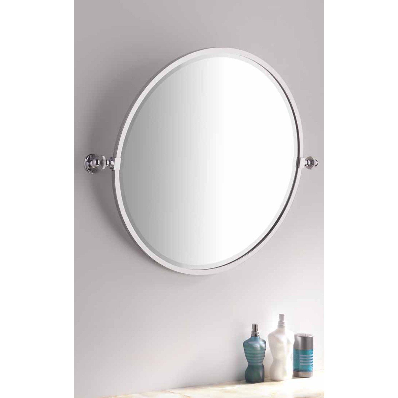 Bathroom Handmade Round Tilting Mirror