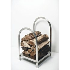 Brushed Steel Log Holder