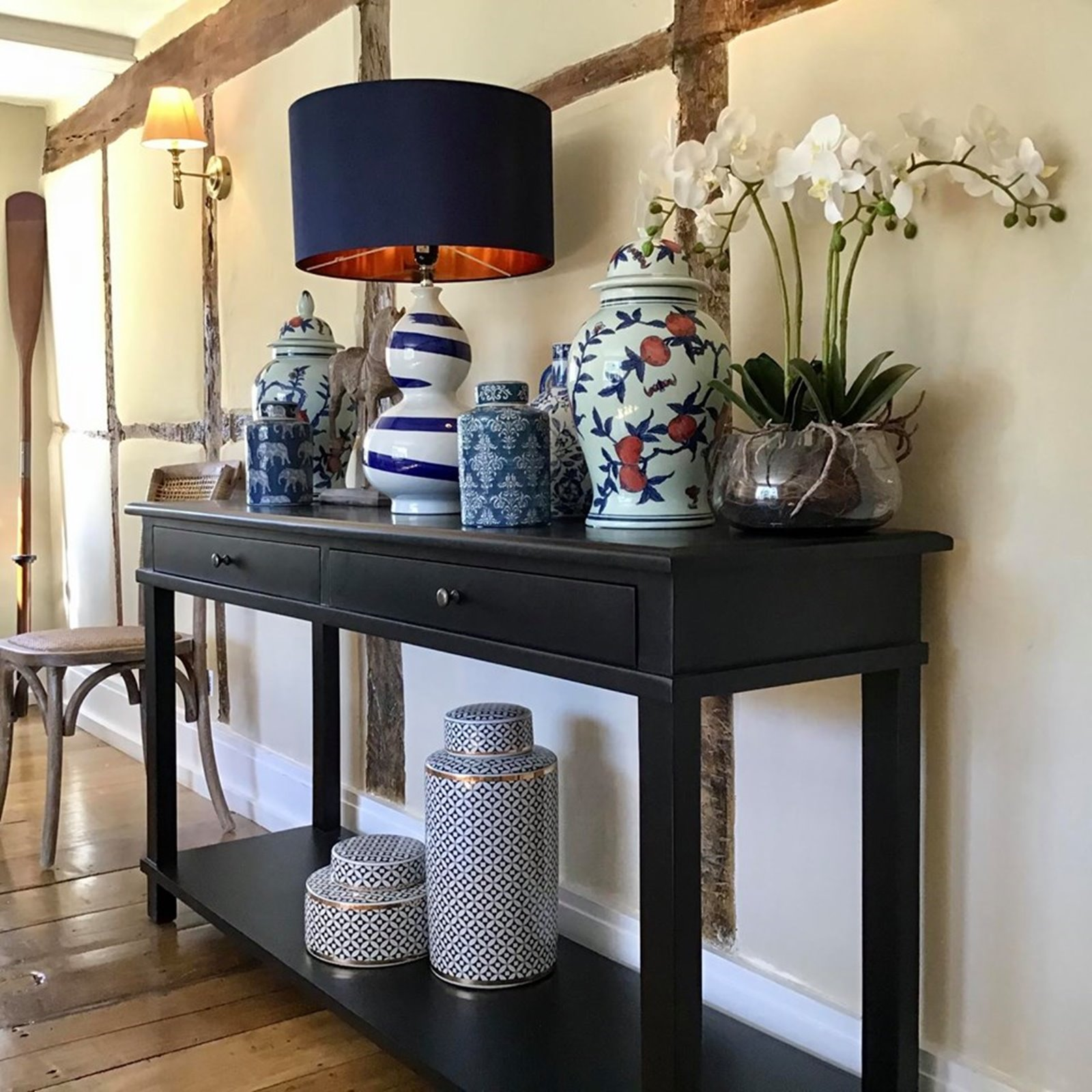 Black Wall Art: Classic Black Console Table