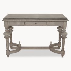 Colonial Grey STONE TOP CONSOLE TABLE
