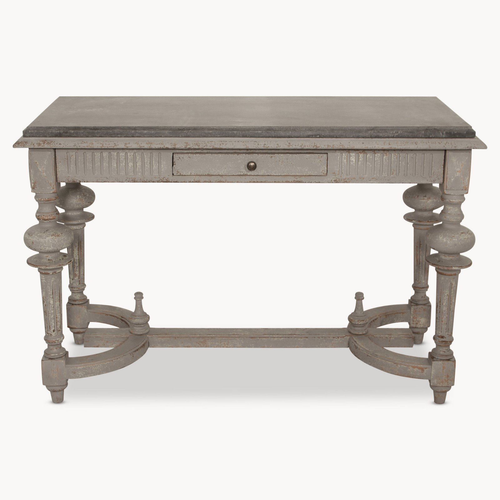 Stone Console Table: Colonial Grey STONE TOP CONSOLE TABLE