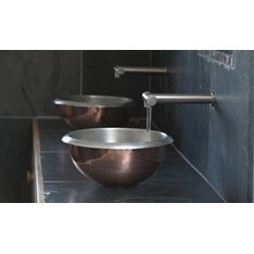 Copper Curved Edge Basin