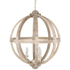 Dene Round Wood Pendant Light