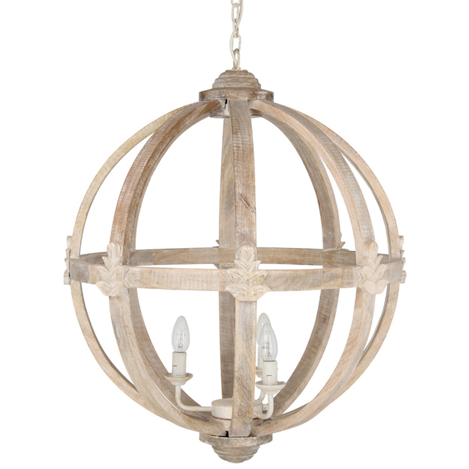 HICKS And HICKS Dene Round Wood Pendant Light