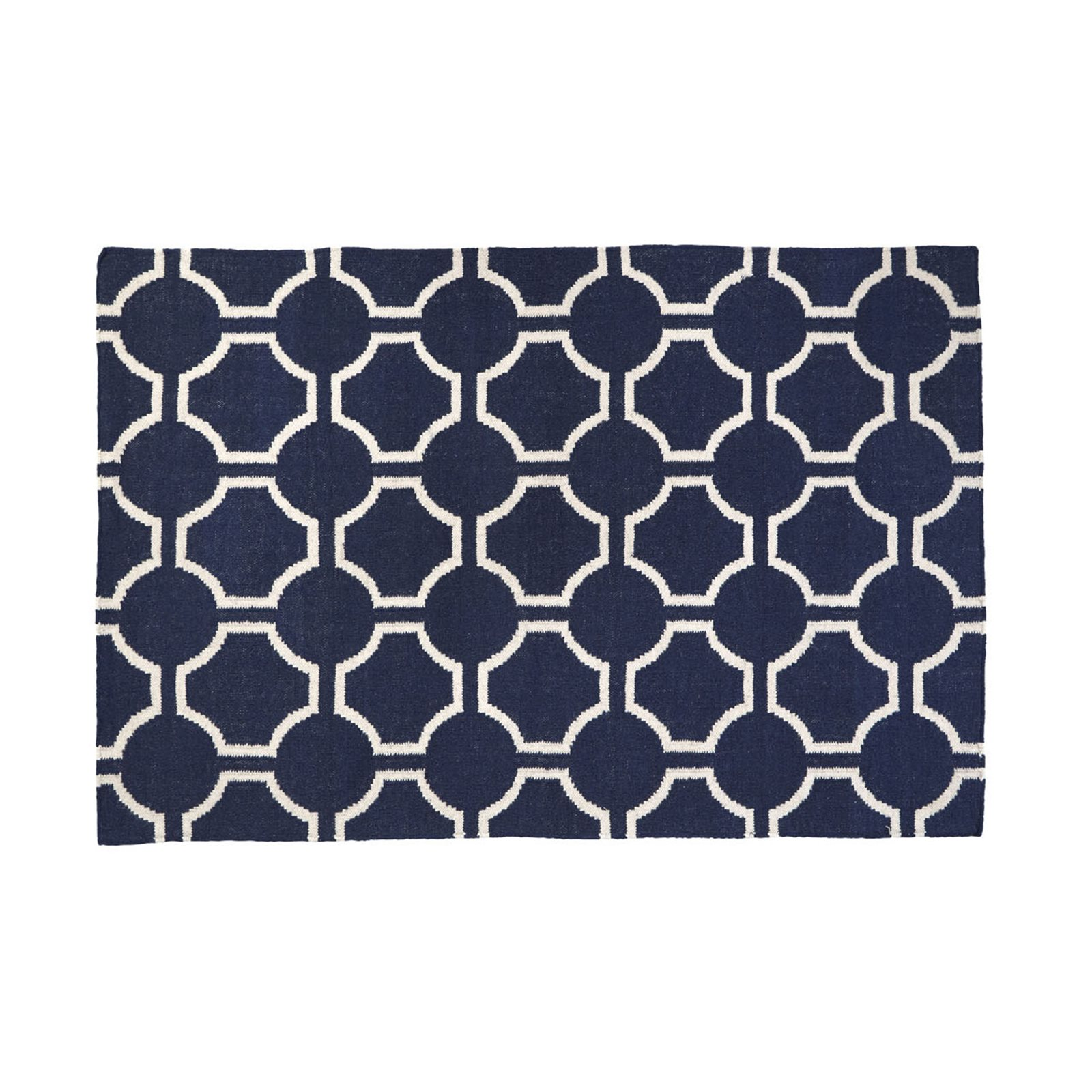 Blue And White Geometric Rug Roselawnlutheran