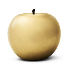 Gold Plated Apple Sculpture