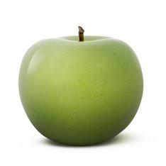 Green Glazed Ceramic Apple Sculpture