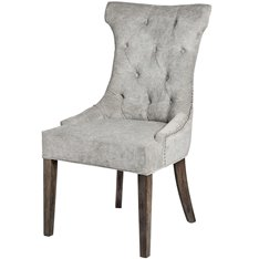 Grey Silver Ring Back Dining Chair