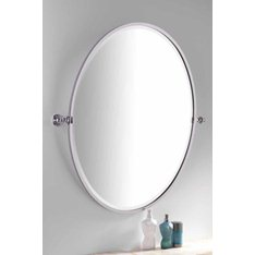 Handmade Bathroom Oval Framed Tilting Mirror