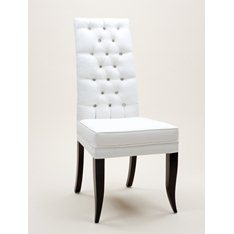 High Back Button Dining Chair
