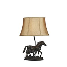 Horse & Foal Table Lamp