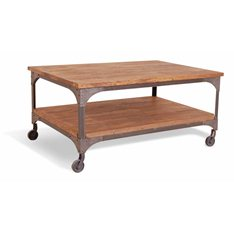 Industrial Coffee Table with shelf