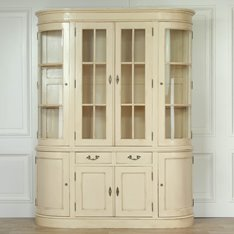 Large Cream Dresser Display Cabinet