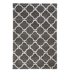 Mayfair Grey & White Geometric Rug