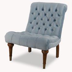 Onslow Bedroom Chair Dusky Blue Velvet