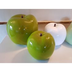 Oversized Ceramic Green Apple