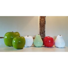 Oversized Ceramic Pale Green Pear