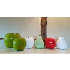 Oversized Ceramic White Pear