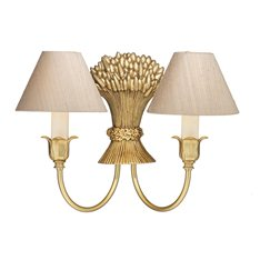 Ripley Double wall light Ivory Silk