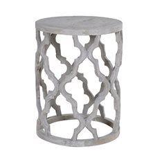 Round Fretwork Side Table