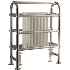 Towel Horse Rail with central radiator Brass