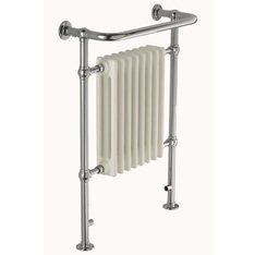 Water Filled Towel Rail with central radiator Mild Steel