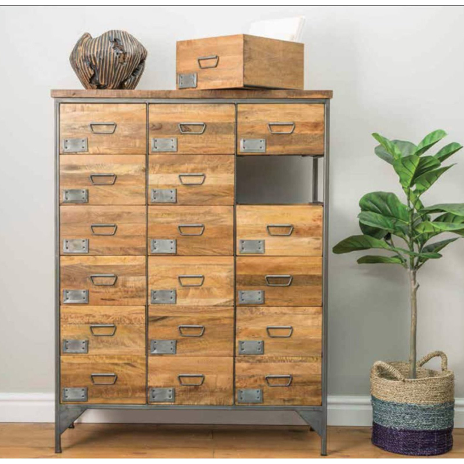 18 Drawer Industrial Apothecary Chest  Image