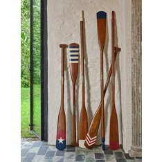 Authentic Models Royal Barge Oars on Display rack Image