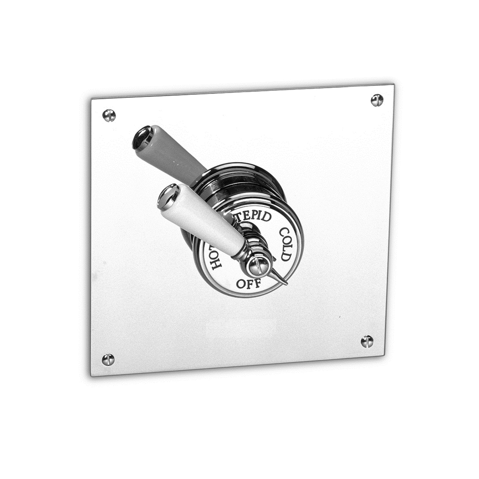 Recessed Thermostatic mixer with square backplate Image