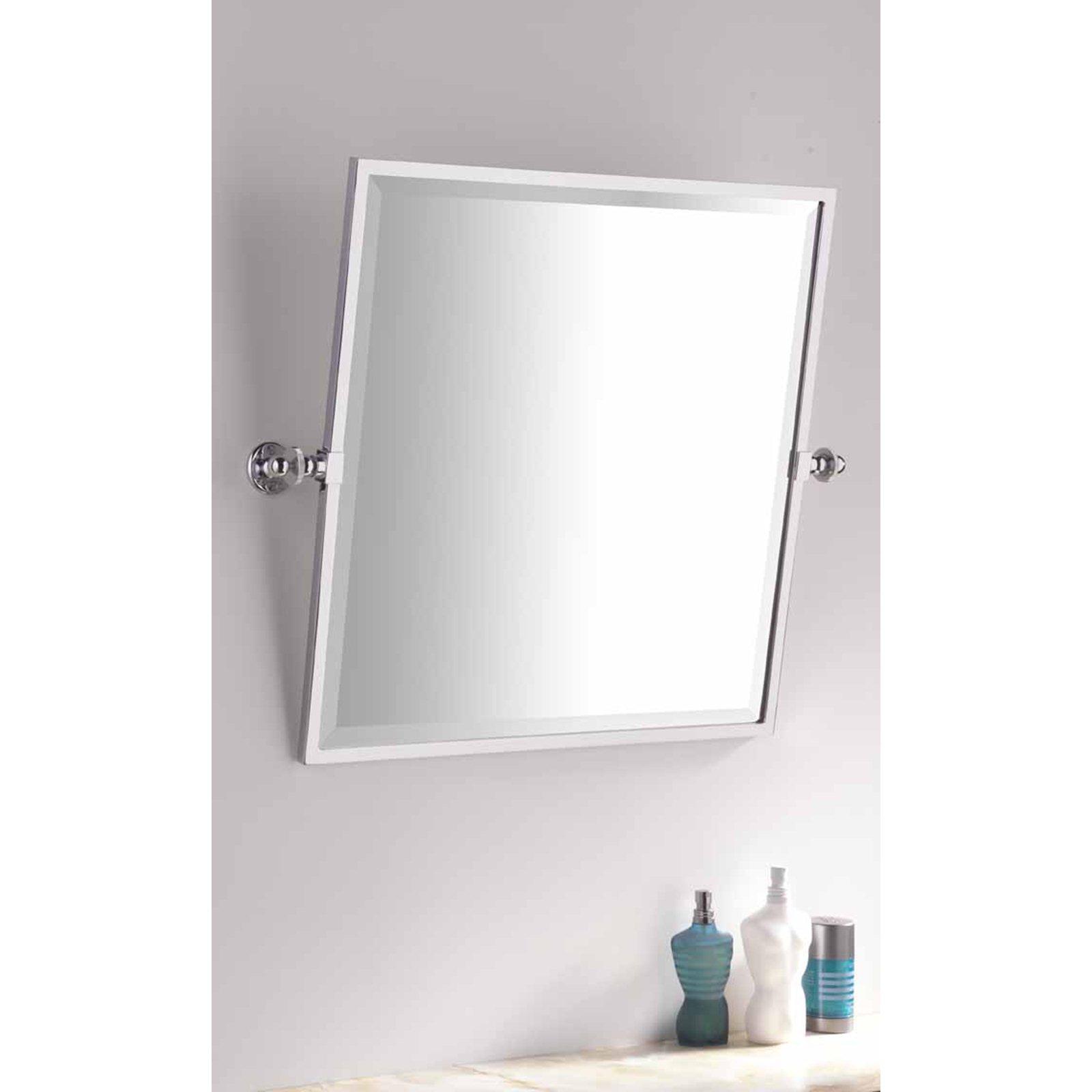 Bathroom Square Framed Tilting Mirror