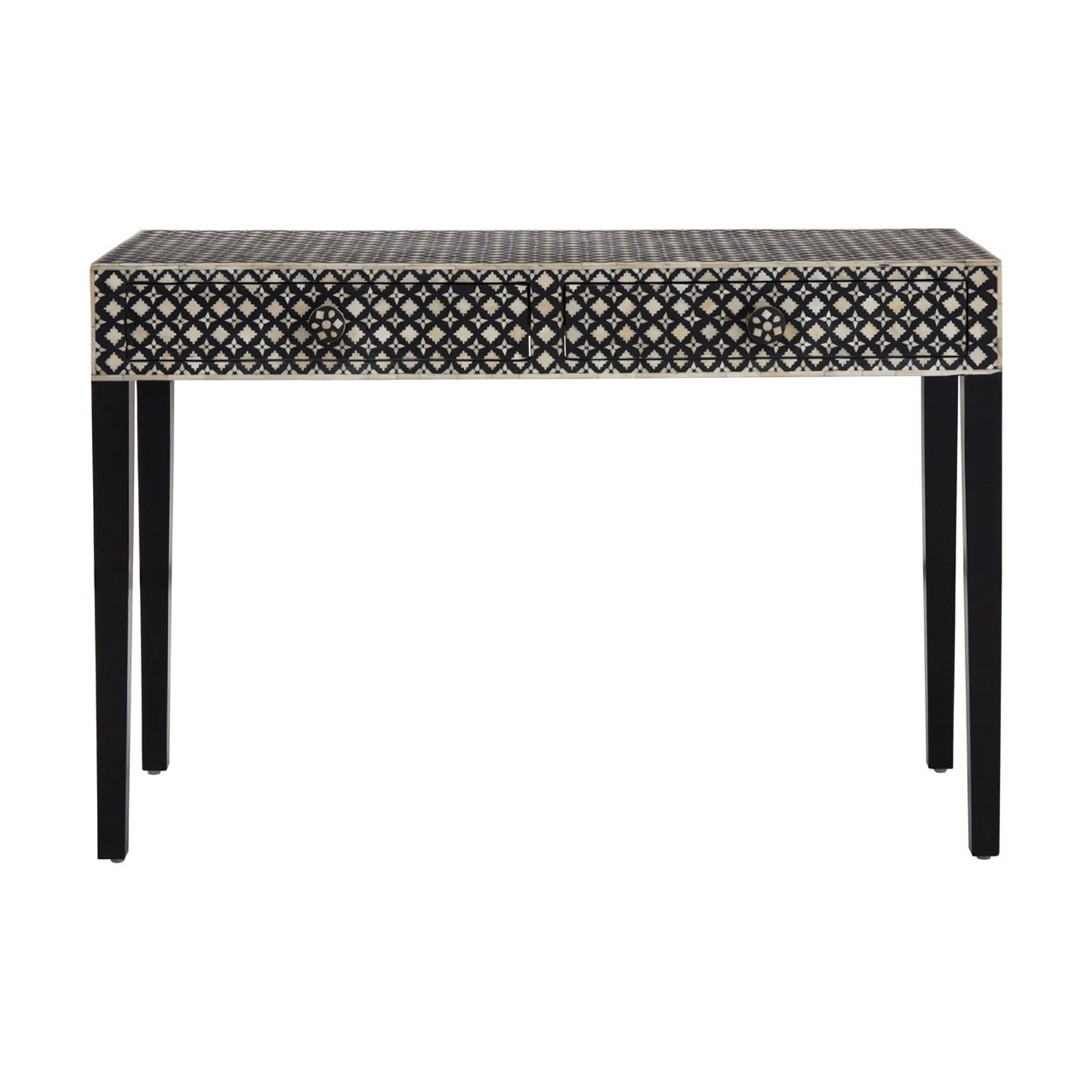 Black Mother Of Pearl Console Table