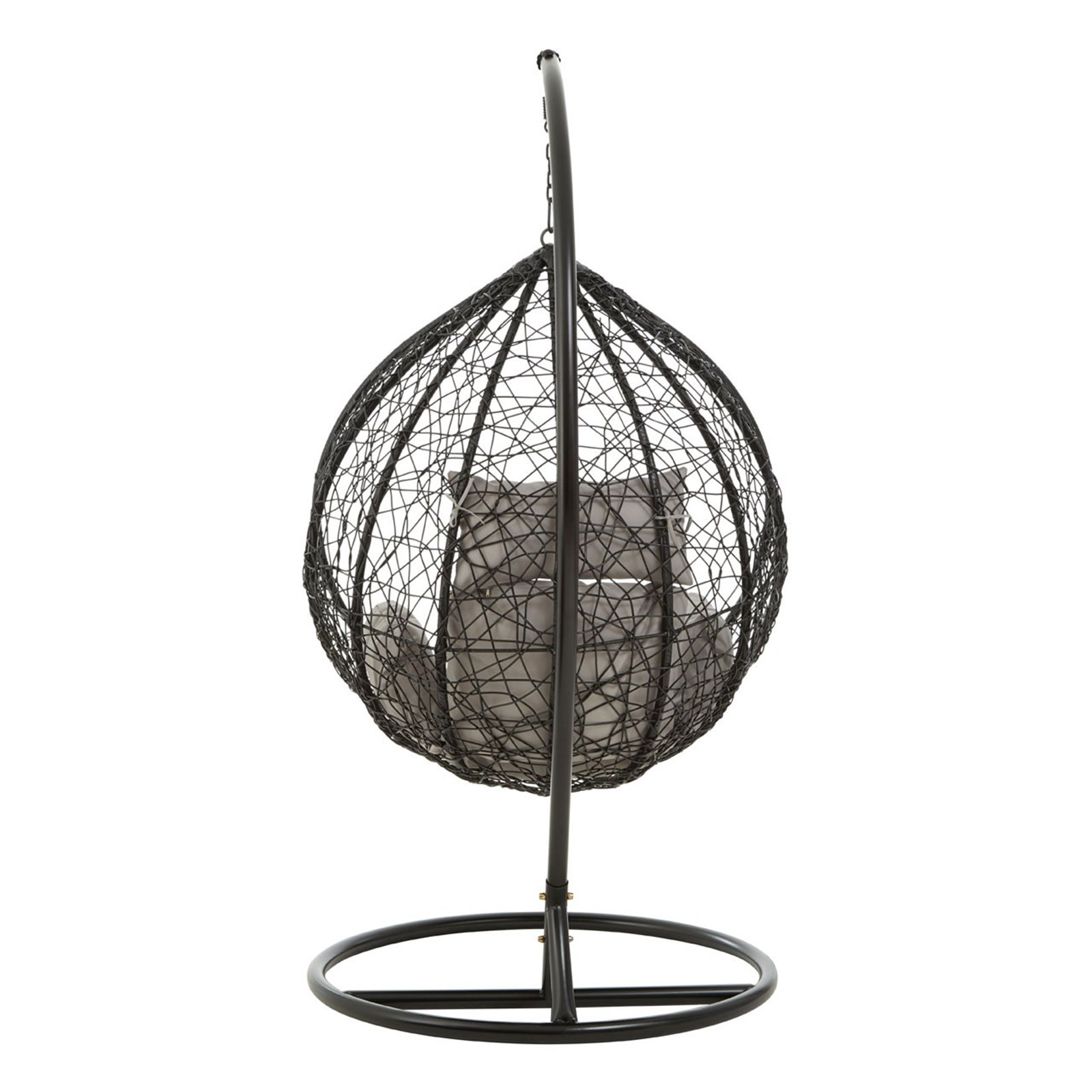 BLACK RATTAN HANGING NEST CHAIR  Image
