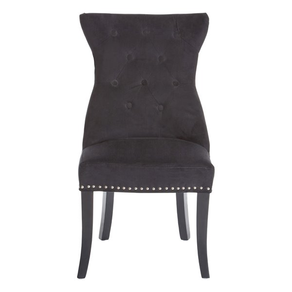 Black Velvet Ring Back Dining Chair