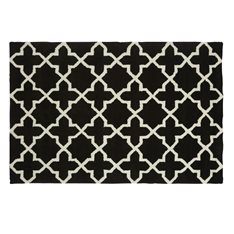 Boltons Black & White Geometric Rug