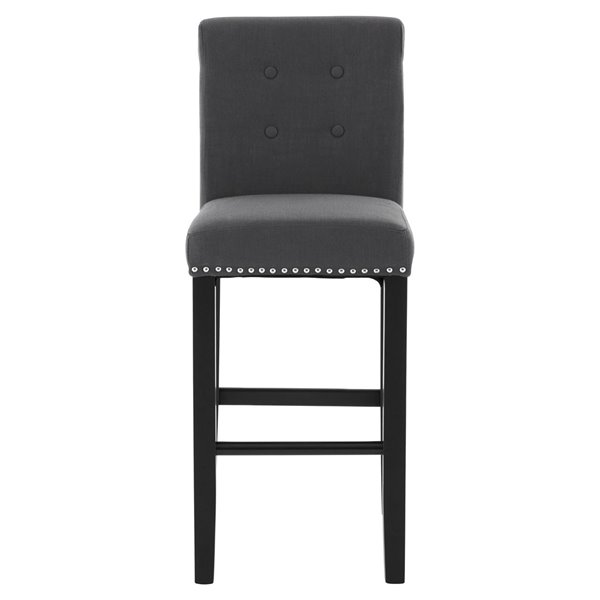 Chelsea Grey Linen Bar Stool