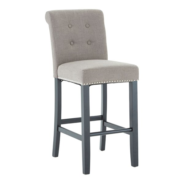 Chelsea Natural Linen Bar Stool