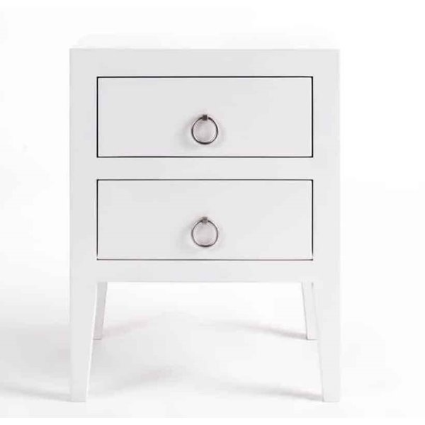 Cherwell 2 Drawer Bedside in White
