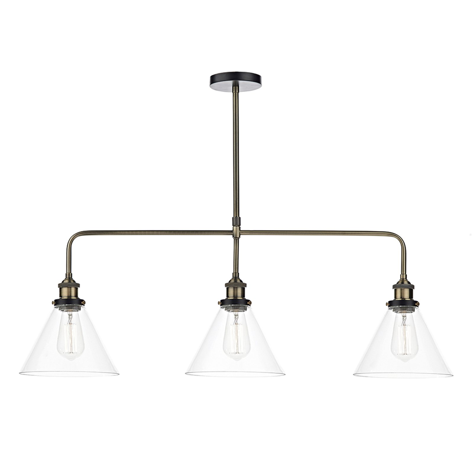 Chester 3 Bar Pendant with glass shades Image