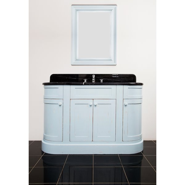 Classic Curved End Bathroom Vanity Unit