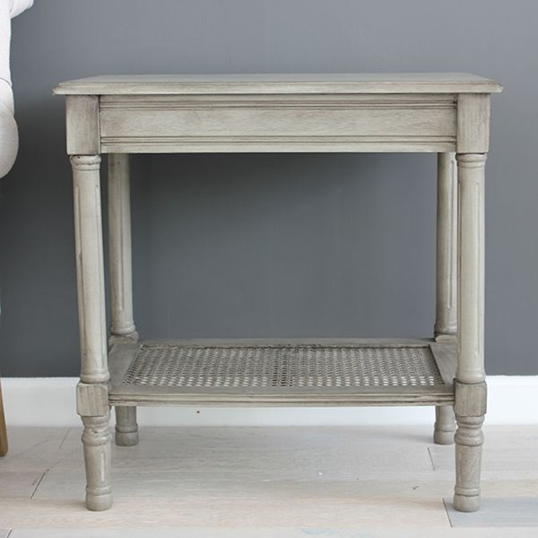 Classic Stone Grey Side Table