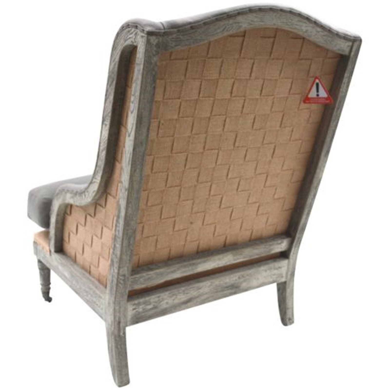 Grey Open Back Armchair Image