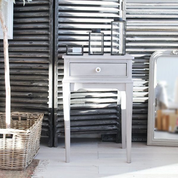 Grey Simple Side Table