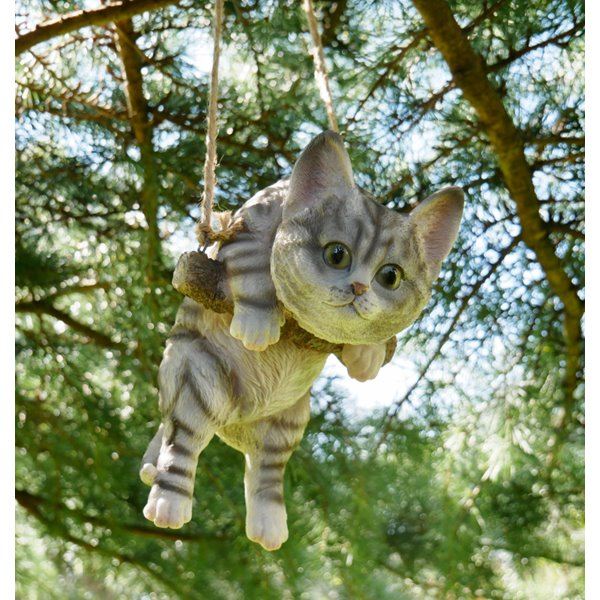 Hanging Tabby Kitten Ornament