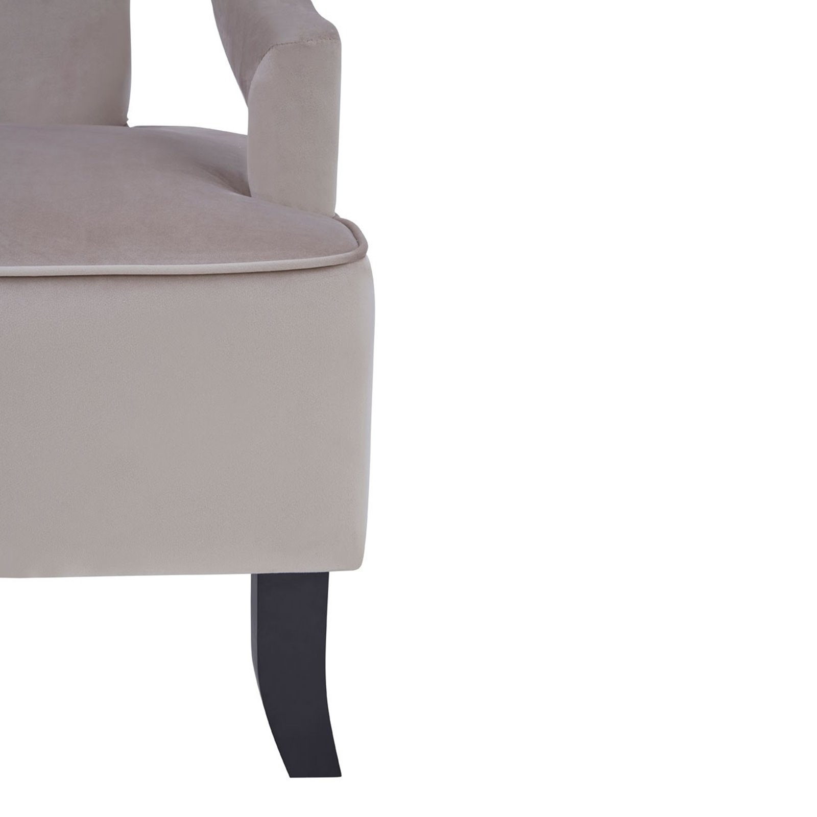 Hermitage Mink Cut Out Armchair Image