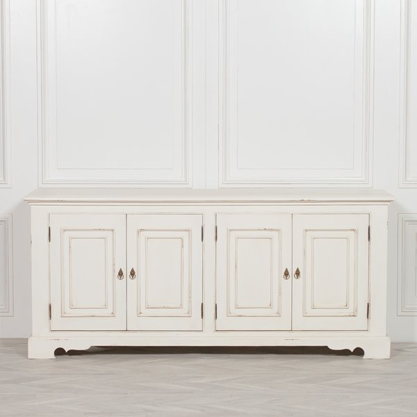 Ivory Classic Distressed Sideboard
